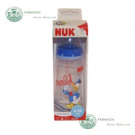 Biberón NUK Disney Silicona  azul First Choice 300 ml