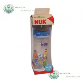 Biberón NUK latex First Choice Barrio Sésamo 6-18 meses 300 ml