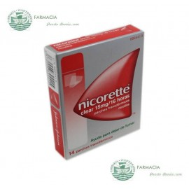 NICORETTE CLEAR 15 MG1 6 H 14 PARCHES TRANSDERMICOS 23.62 MG