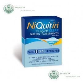 NIQUITIN CLEAR 21 MG 24 H 14 PARCHES TRANSDERMICOS 114 MG