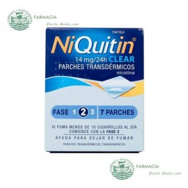 NIQUITIN CLEAR 14 MG 24 H 7 PARCHES TRANSDERMICOS 78 MG