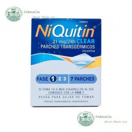 NIQUITIN CLEAR 21 MG 24 H 7 PARCHES TRANSDERMICOS 114 MG