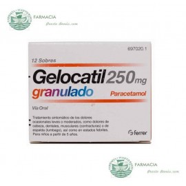 Gelocatil 250 mg 12 Sobres