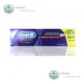 Pasta Dental Oral B White Brillo Seductor 75 ml
