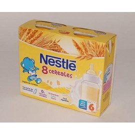 Papillas Nestle 8 Cereales con leche 2 x 250 ml